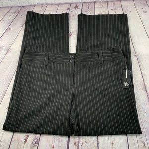 NWT New Directions B&W Pinstripe Work Pants 14